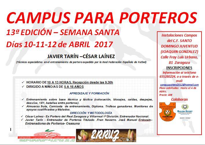 Campus de Porteros Javier Tarin-Cesar Lainez en Semana Santa